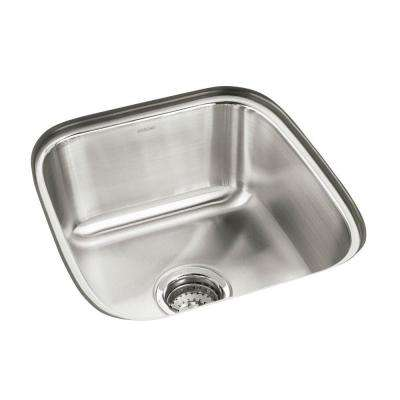 Springdale Undermount Stainless Steel 16 in. Single Bowl Kitchen Sink