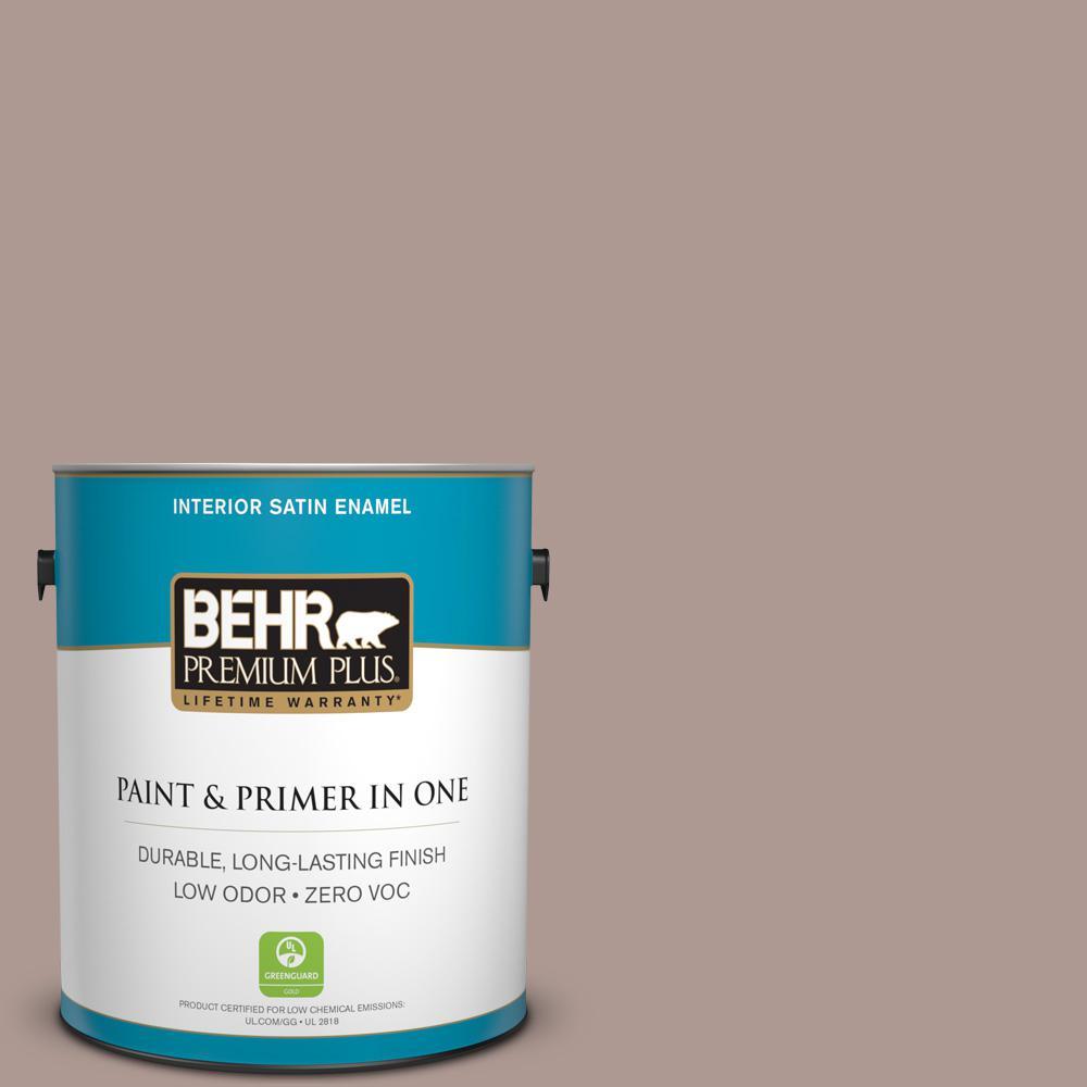 1-gal. #ECC-61-1 Desert Dusk Zero VOC Satin Enamel Interior Paint