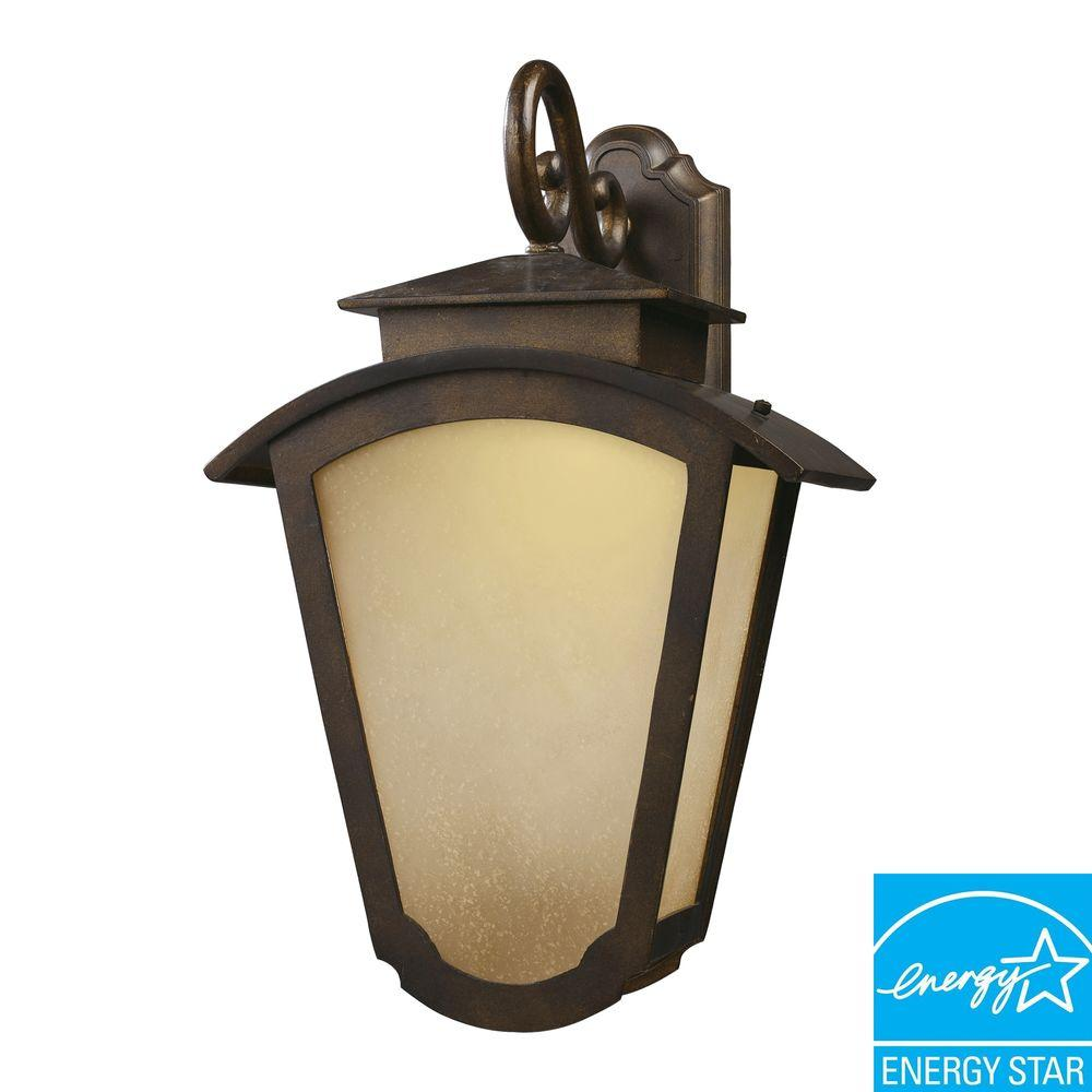 Titan Lighting 2-Light Outdoor Hazelnut Bronze LED Wall Sconce-DISCONTINUED