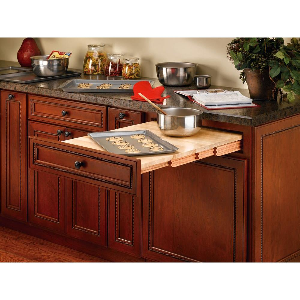 Tv Helping Push Kitchens Off The Shelf: Rev-A-Shelf 4.25 In. H X 22 In. W X 19.31 In. D Wood Pull