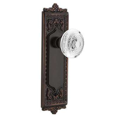 Egg and Dart Plate Timeless Bronze Double Dummy with Crystal Egg and Dart Door Knob