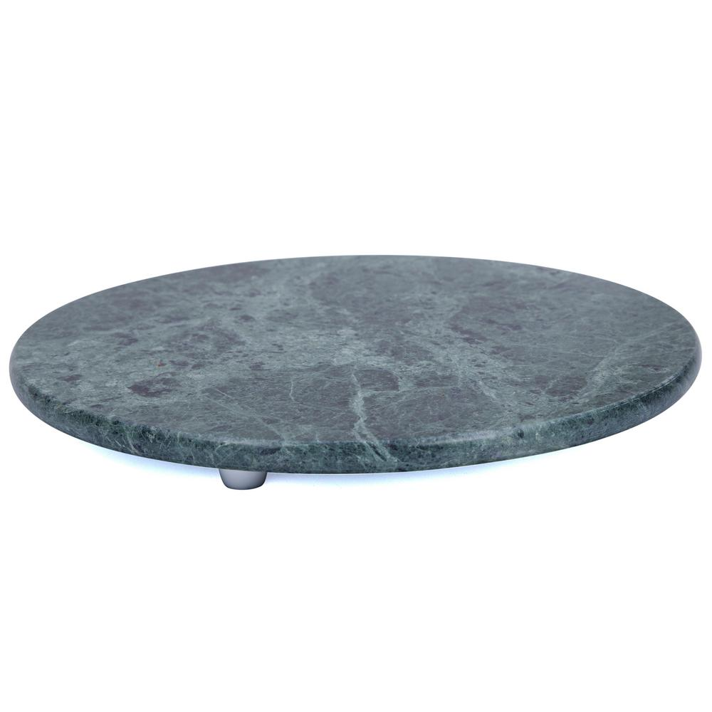 Round Green Marble : Creative home green marble in dia round board