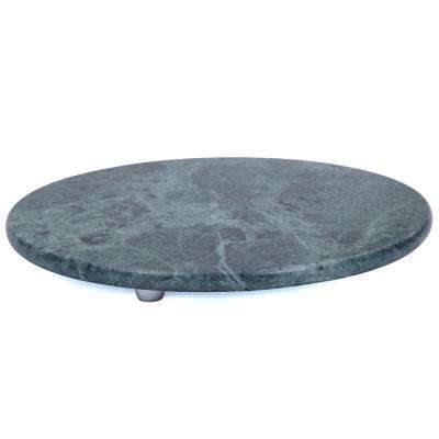Green Marble 12 in. Dia Round Board