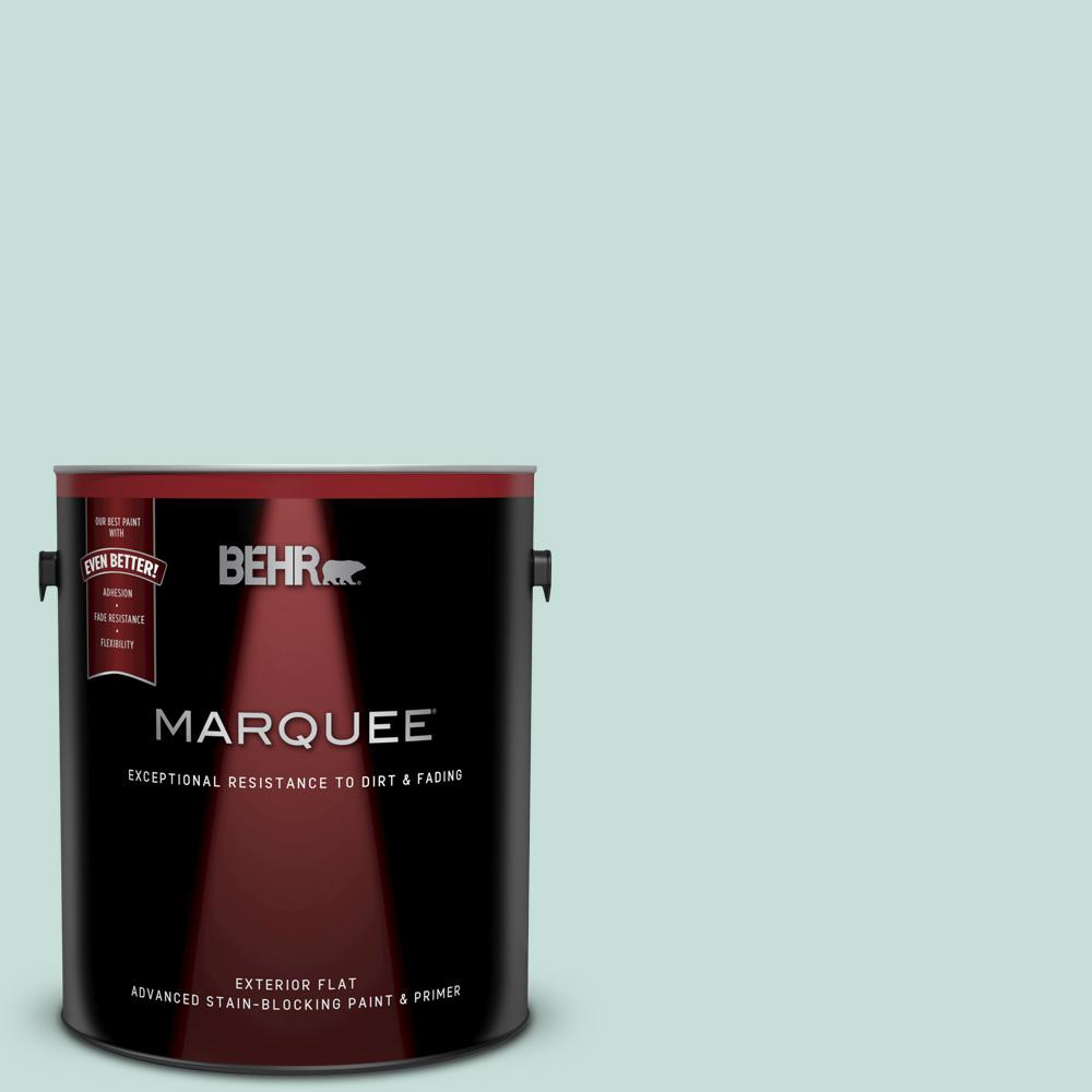 BEHR MARQUEE 1 gal. #MQ3-20 Whipped Mint Flat Exterior Paint and Primer in One