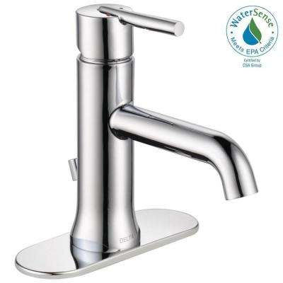 Trinsic Single Hole Single-Handle Bathroom Faucet with Metal Drain Assembly in Chrome