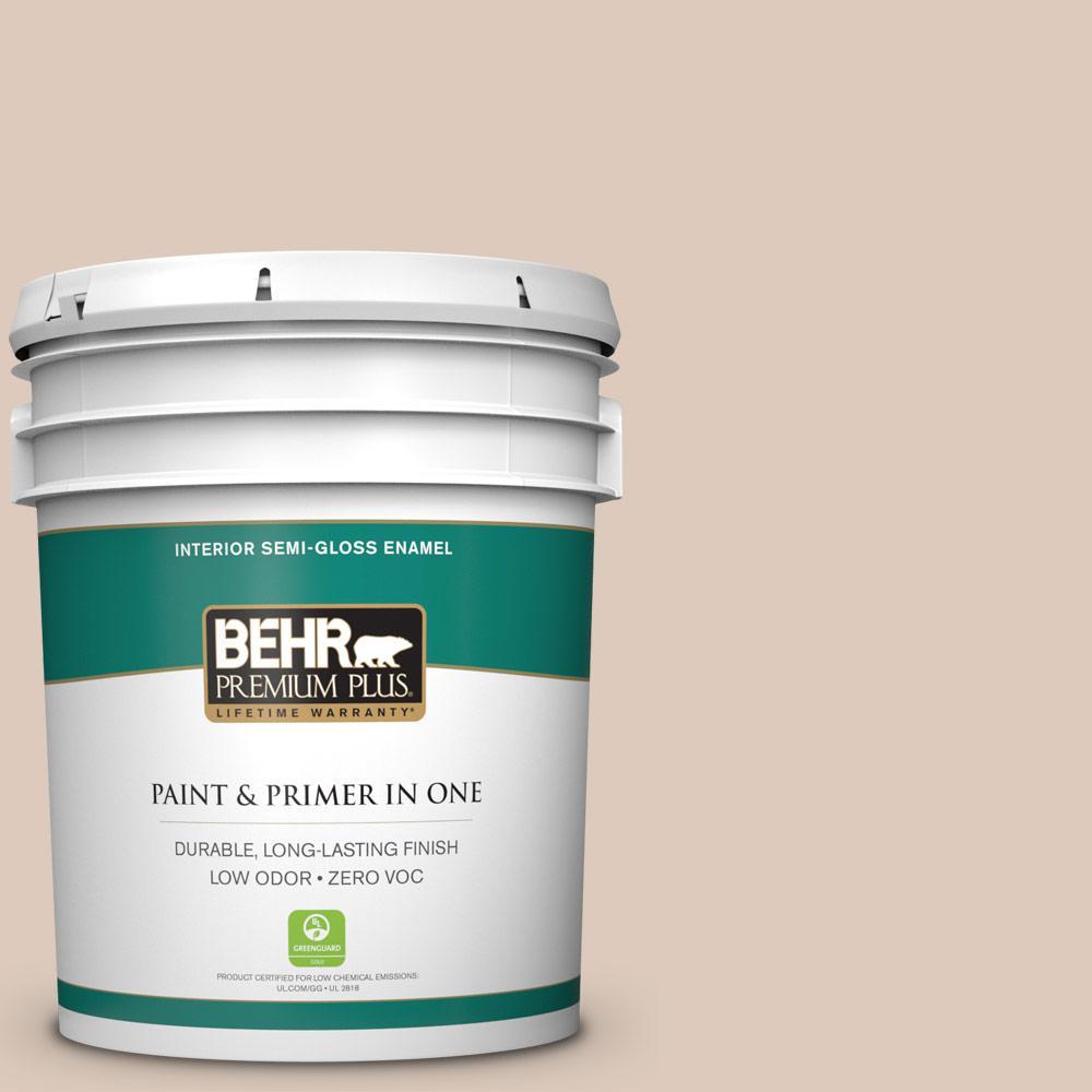 BEHR Premium Plus 5-gal. #ICC-22 Haze Zero VOC Semi-Gloss Enamel Interior Paint