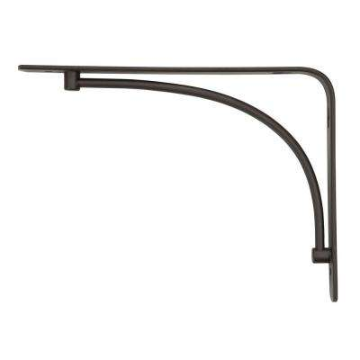 6 in. x 8 in. Bronze Steel Arch Decorative Shelf Bracket