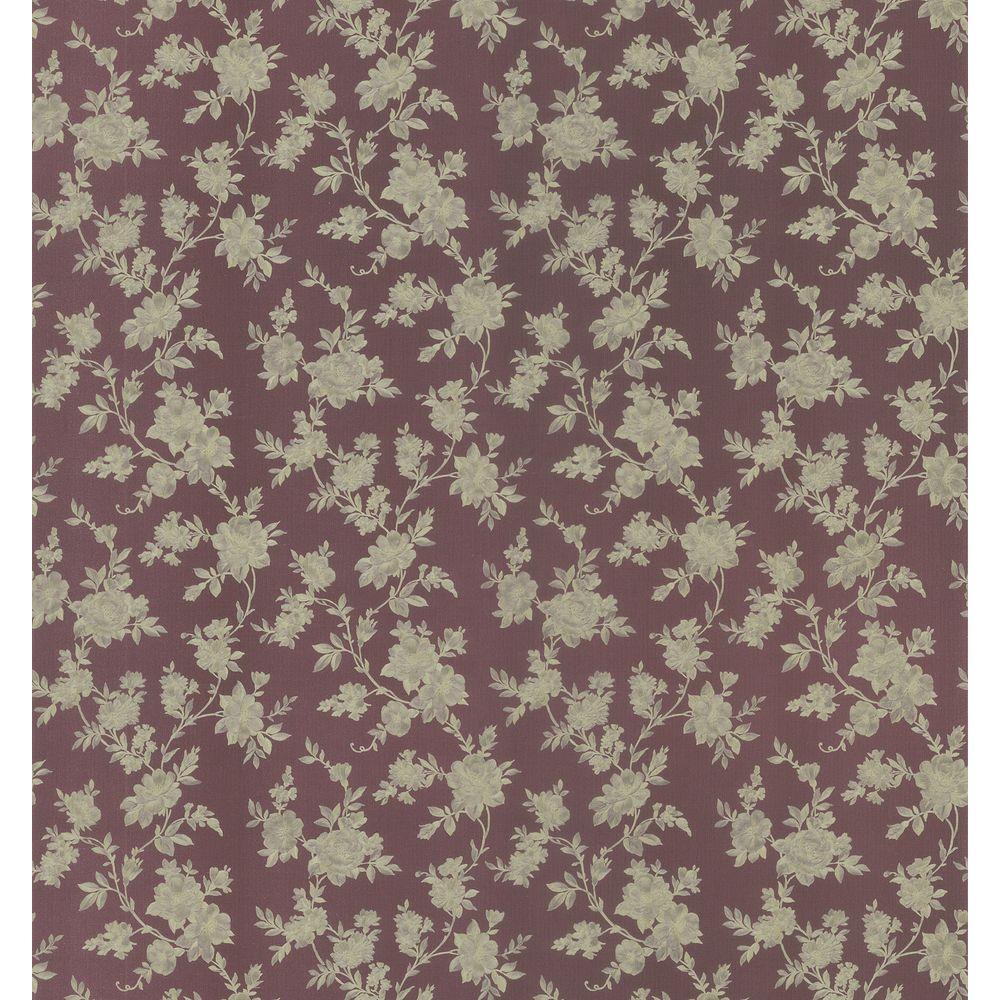 Brewster 56 sq. ft. Floral Trail Wallpaper