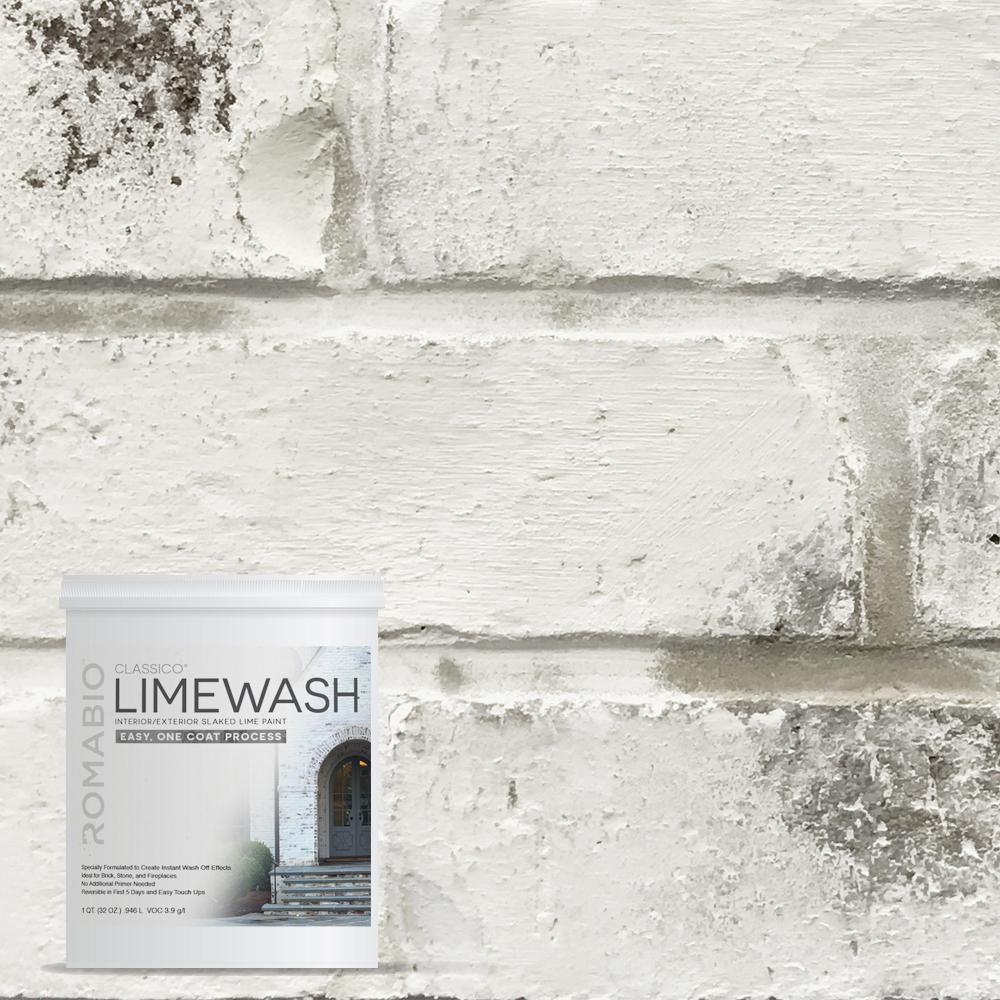 ROMABIO 1-qt. Avorio White Limewash Interior/Exterior Paint