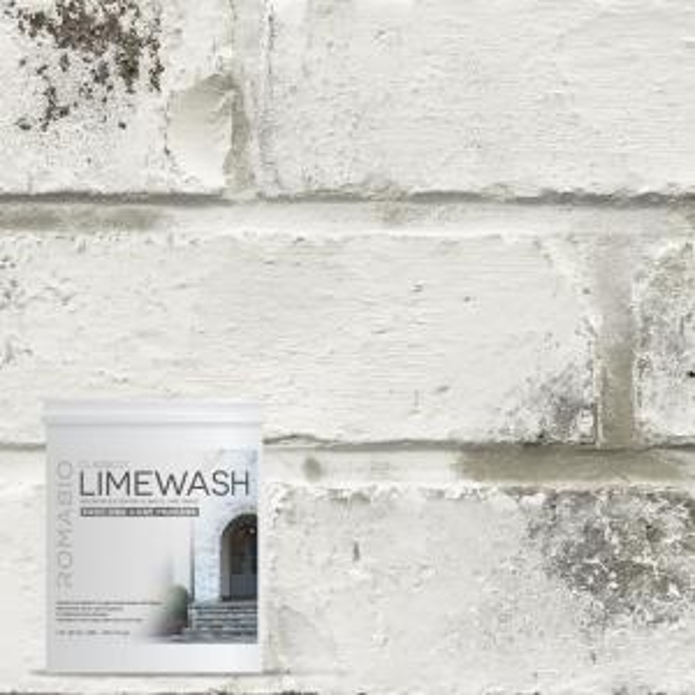 1-qt. Avorio White Limewash Interior/Exterior Paint