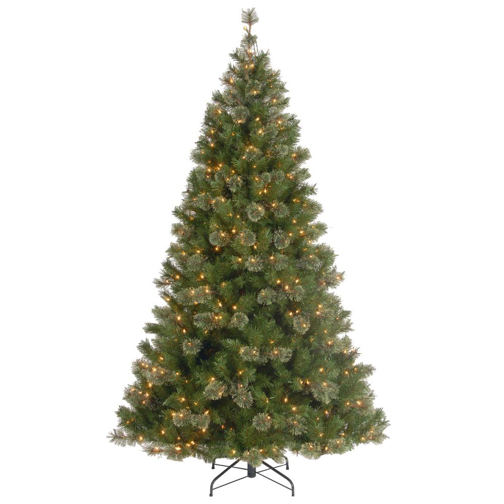 national tree company 7 12 ft atlanta spruce hinged artificial christmas tree - 2 Ft Christmas Tree