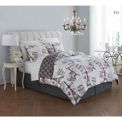 Darcy 8-Piece Blush King Bed in a Bag Set