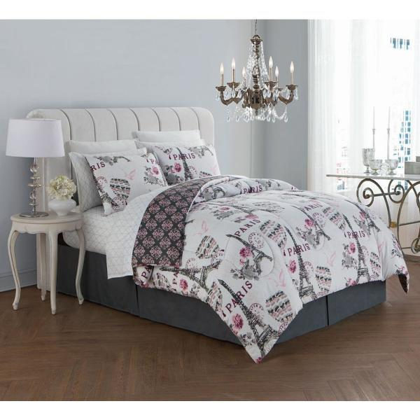undefined Darcy 8-Piece Blush King Bed in a Bag Set