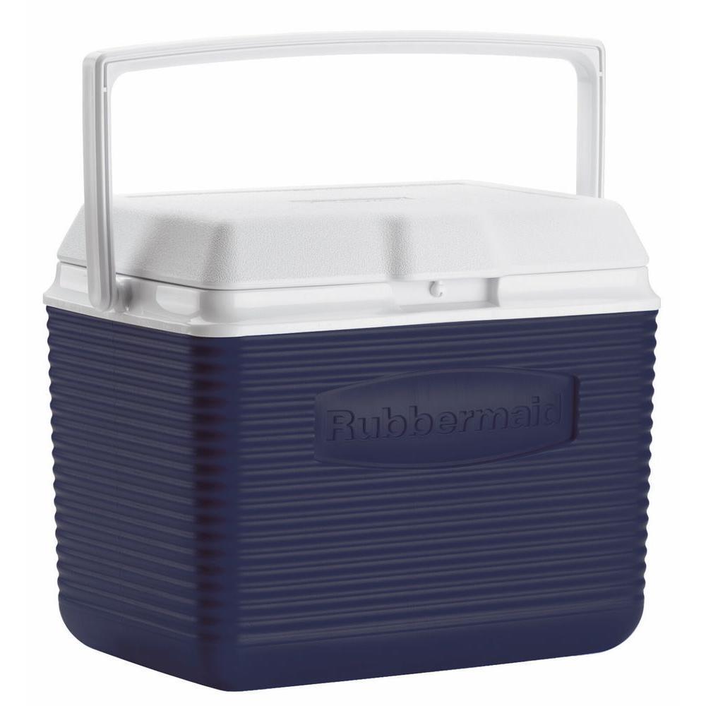 Ice Box Cooler : Rubbermaid qt blue ice chest cooler fg a modbl