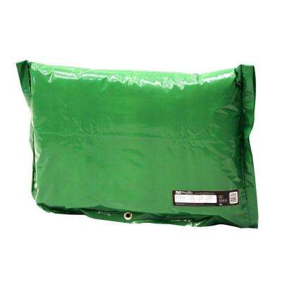24 in. L x 16 in. H Small Fiberglass Encapsulated Green Plastic Insulation Pouch