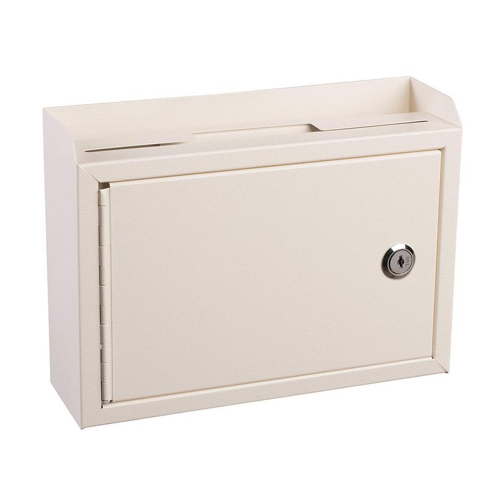 Medium Size White Steel Multi-Purpose Suggestion Drop Box