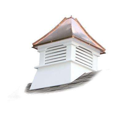 Nantucket 20 in. x 20 in. x 31 in. Composite Vinyl Cupola with Copper Roof