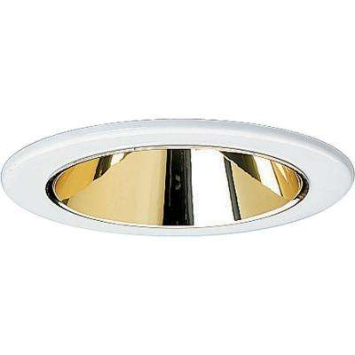 4 in. Gold Alzak Recessed Reflector Trim