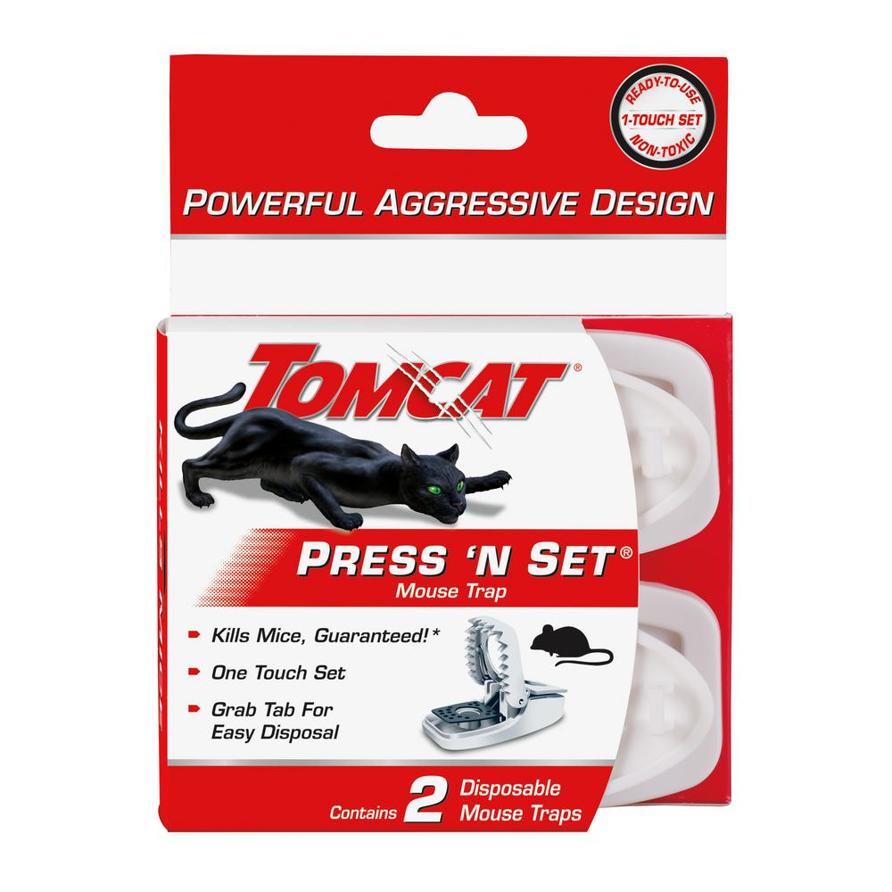 Tomcat Press N Set Mouse Trap (2-Pack)