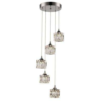 pendant lighting fixture. 25watt polished chrome integrated led pendant lighting fixture i