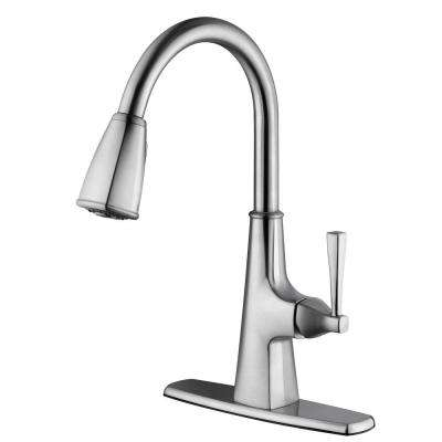 Perth Single-Handle Pull-Down Sprayer Kitchen Faucet in Satin Nickel