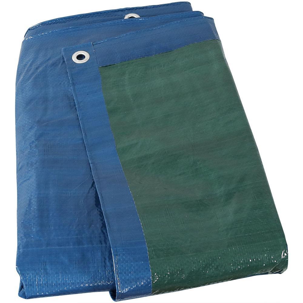 30 ft. x 50 ft. Blue-Green Reversible Waterproof Multi Purpose Poly Tarp