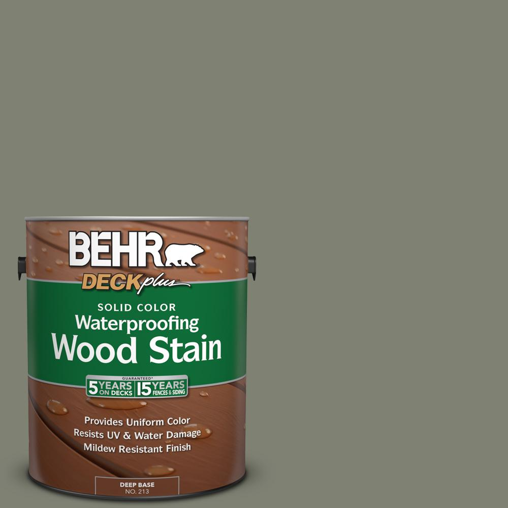BEHR DECKplus 1 gal. #SC-137 Drift Gray Solid Color Waterproofing Wood Stain