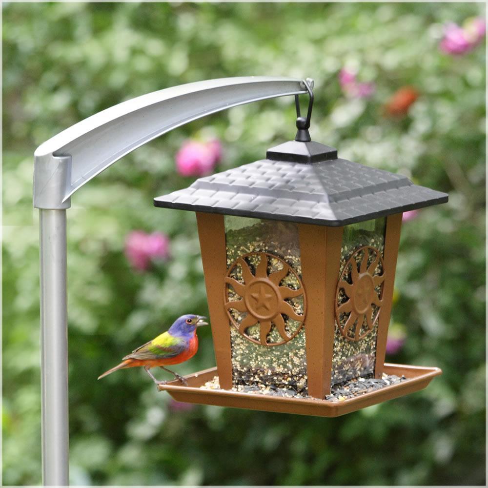 Sun and Star Lantern Hanging Bird Feeder - 3.5 lb. Capacity