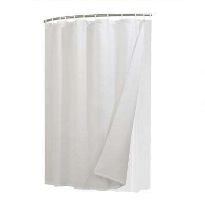 White Liner, Curtain and Shower Rings Combo Set
