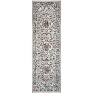 Amata medallion Beige 2 ft. 2 in. x 8 ft. Indoor Runner