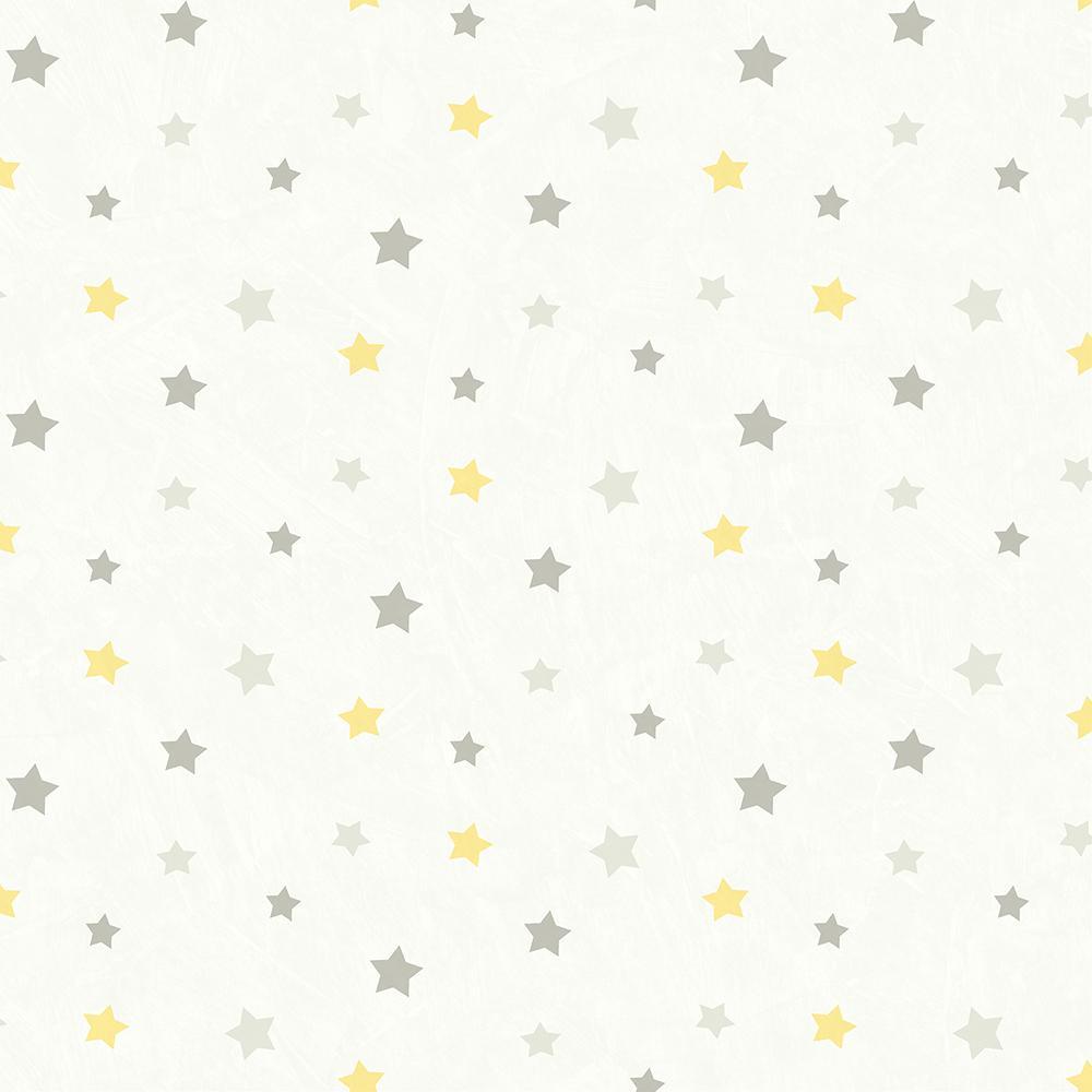 Yoni Grey Dancing Stars Wallpaper