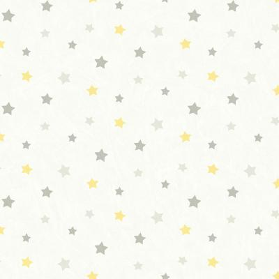Yoni Grey Dancing Stars Grey Paper Strippable Roll (Covers 56.4 sq. ft.)