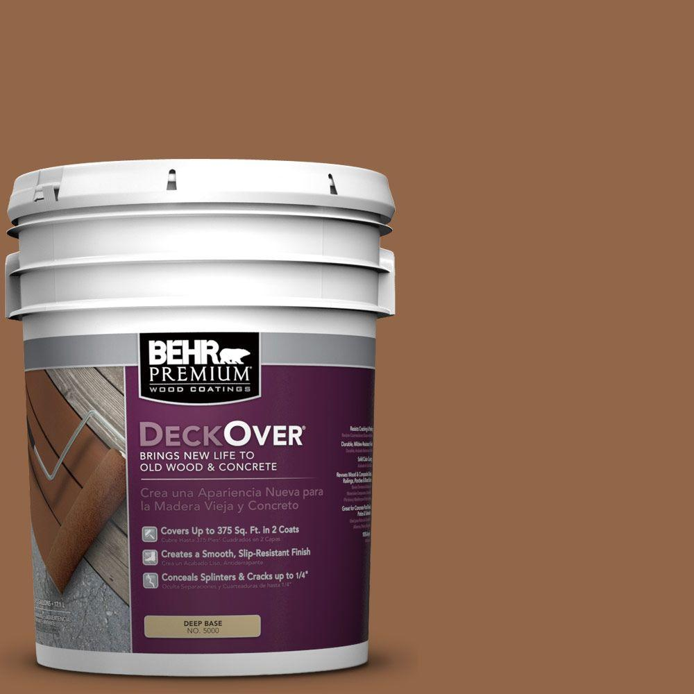 BEHR Premium DeckOver 5 gal. #SC-152 Red Cedar Wood and Concrete Coating