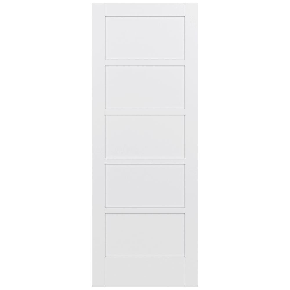 JELD-WEN 36 In. X 96 In. MODA Primed PMP1055 Solid Core Wood Interior Door Slab-THDJW221100020