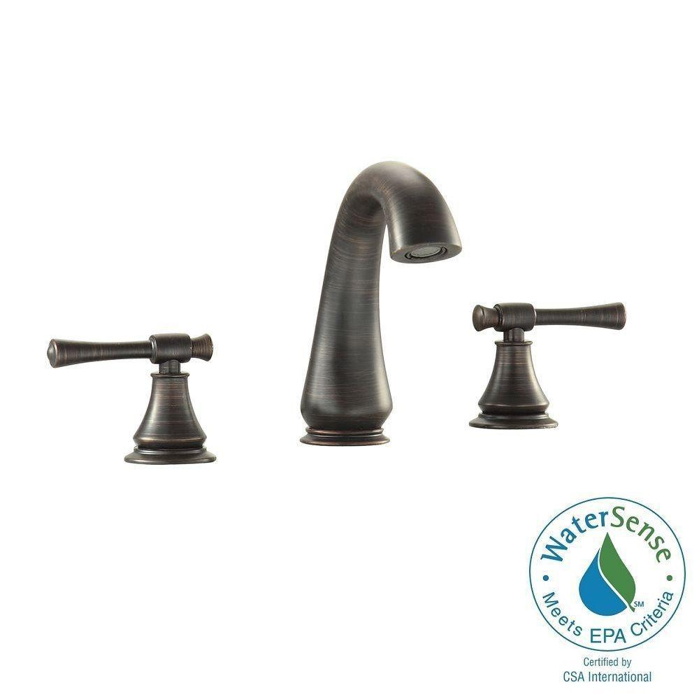 Triton 8 in. Widespread 2-Handle Mid-Arc Bathroom Faucet in Oil Rubbed