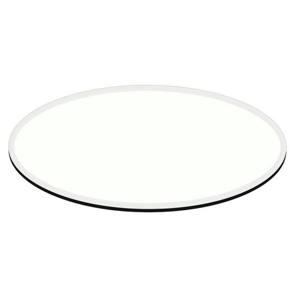 Fab Glass and Mirror 28 in. x 54 in. Clear E-Oval
