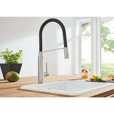 Concetto Single-Handle Pull-Down Sprayer Kitchen Faucet in SuperSteel Infinity