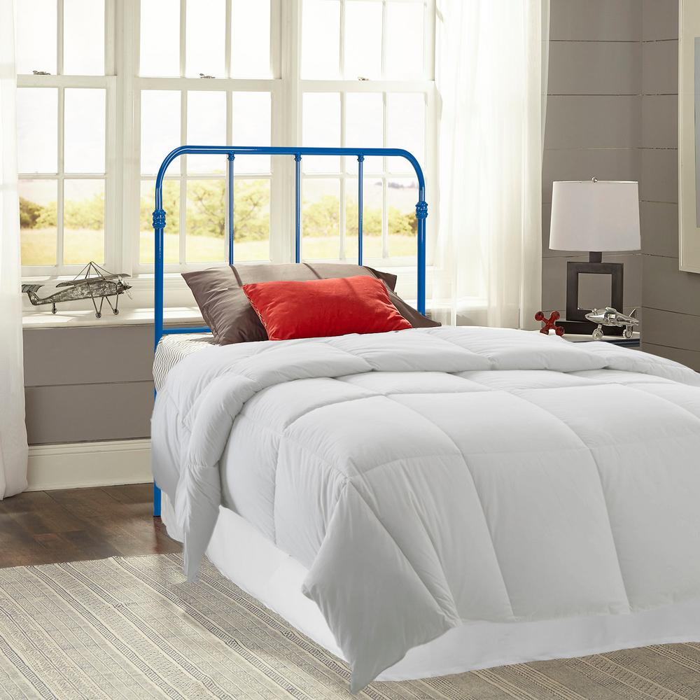 Nolan Colbalt Blue Twin Kids Bed with Metal Duo Panels
