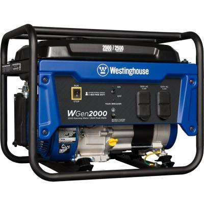 2000-Watt Gasoline Powered Portable Generator With Automatic Low-Oil Shutdown