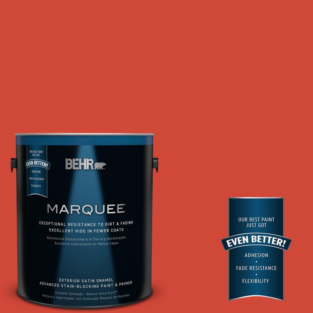 BEHR MARQUEE 1-gal. #P180-7 Top Tomato Satin Enamel Exterior Paint
