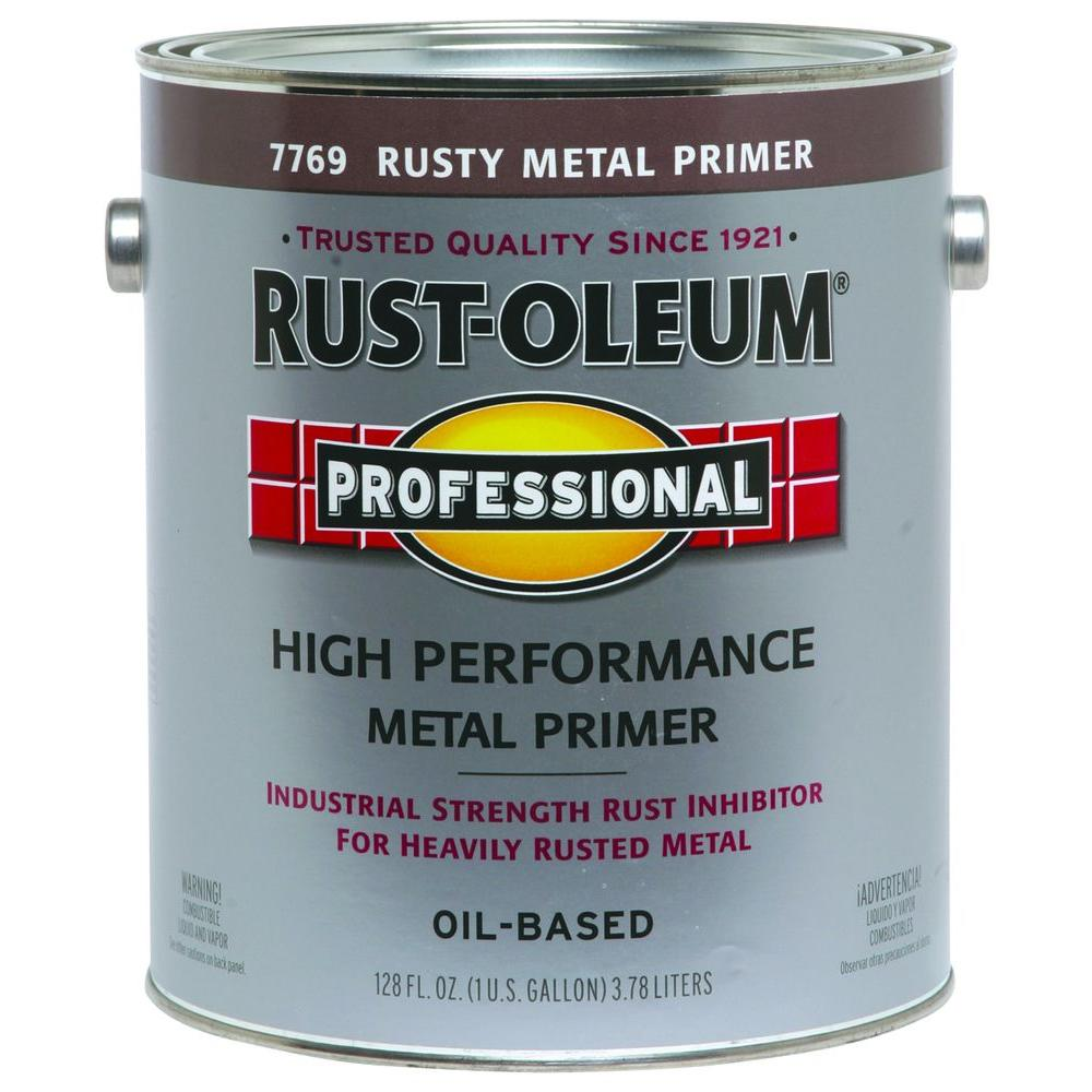 Rust-Oleum Professional 1 gal  High Performance Flat Rusty Metal Oil-Based  Rust Preventive Primer (2-Pack)