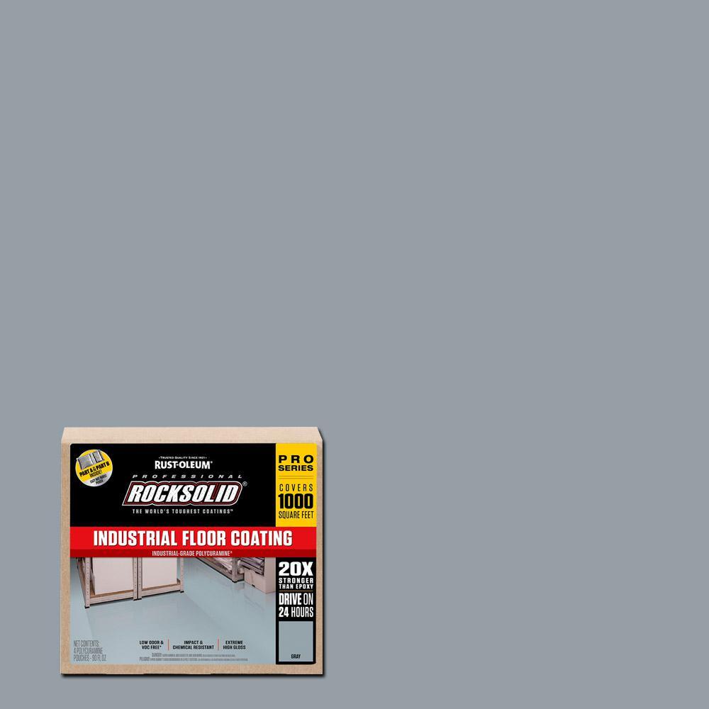 Rust-Oleum RockSolid 360 oz. Gray Polycuramine Industrial Floor Coating