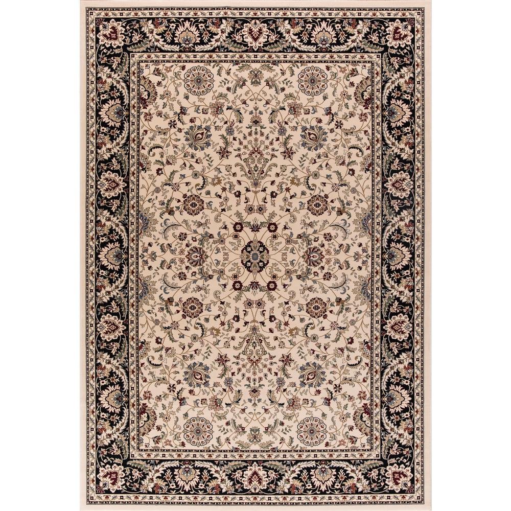 Williams Collection Istanbul Ivory Rectangle Indoor 8 ft. 9 in. x