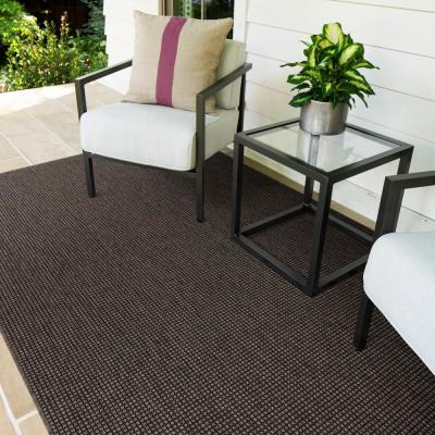 Diedra Charcoal 10 ft. x 14 ft. Solid Indoor/Outdoor Area Rug