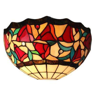 Tiffany Style Floral Wall Sconce Lamp