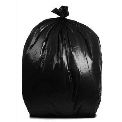 38 in. W x 58 in. H. 50-60 Gal. 4 mil Black Contractor Bags (32-Case)