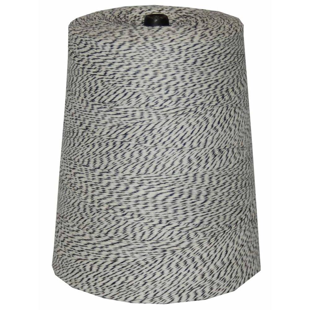 T.W. Evans Cordage 4-Ply 9600 ft. 2 lb. Twine Cone in Variegated Black and White