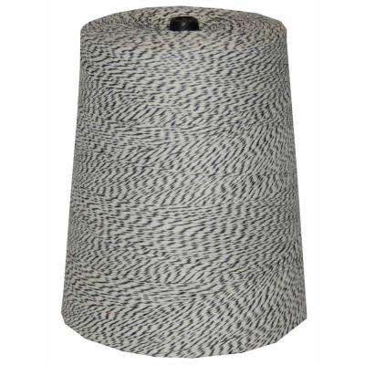 4-Ply 9600 ft. 2 lb. Twine Cone in Variegated Black and White