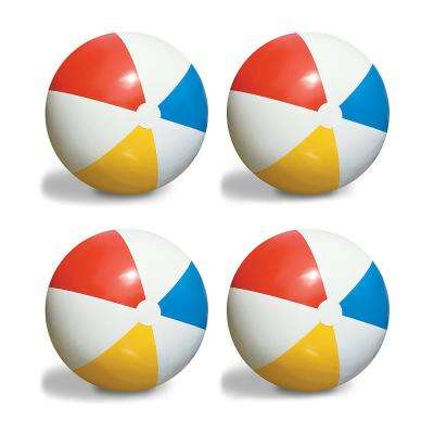 Inflatable 36 in. Classic Rainbow Giant Beach Balls (4-Pack)