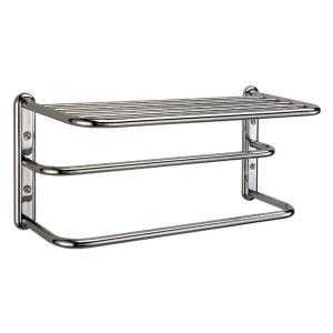 Gatco 21.6 inch W Shelf with Spa Towel Rack and Bars in Chrome by Gatco